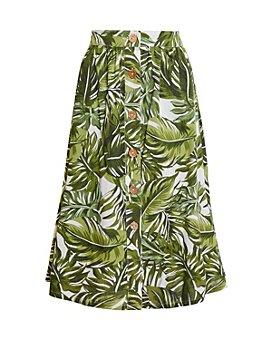 BCBGeneration - Palm Frond Print Midi Skirt