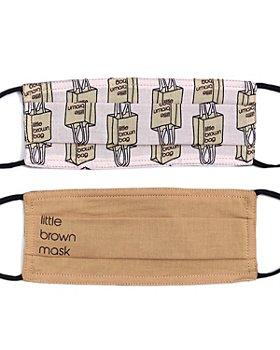 Echo - Little Brown Bag & Little Brown Mask Face Masks, Set of 2
