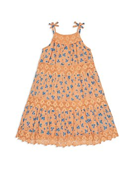 Peek Kids - Girls' Penelope Floral Print Tiered Dress - Little Kid, Big Kid