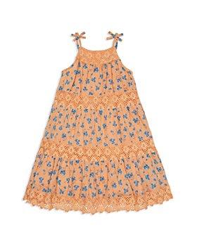 Peek Kids - Girls' Penelope Floral Print Tiered Dress - Little Kid, Big Kid