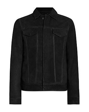 Allsaints Hazel Leather Trucker Jacket