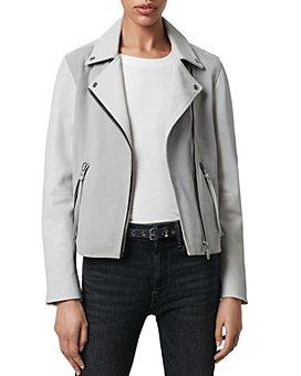ALLSAINTS - Dalby Leather & Suede Biker Jacket