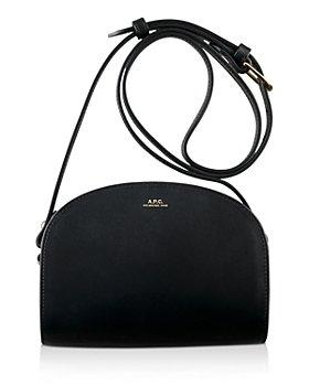 A.P.C. - Demi Lune Mini Leather Crossbody