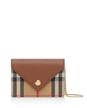 Burberry - Jade Mini Vintage Check Print & Grainy Leather Card Case