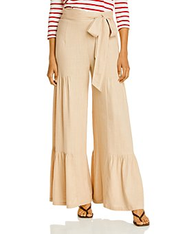 AQUA - Ruffled Wide Leg Pants - 100% Exclusive