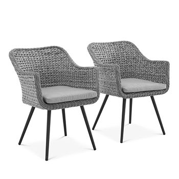 Modway - Endeavor Outdoor Patio Wicker Rattan Dining Armchair, Set of 2