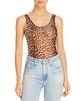 AQUA - Mesh Leopard Print Bodysuit - 100% Exclusive