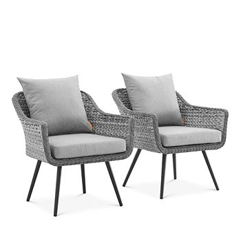 Modway - Endeavor Outdoor Patio Wicker Rattan Armchair, Set of 2