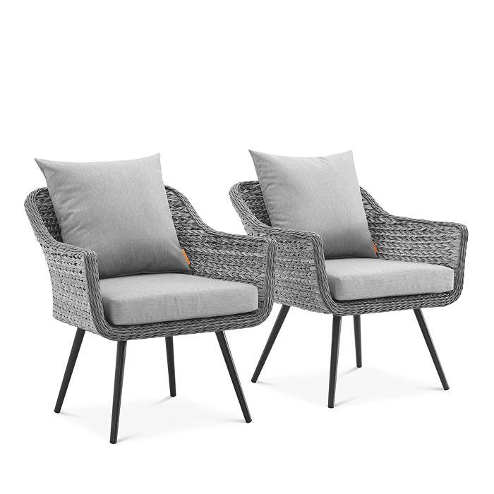Modway - Endeavor Outdoor Patio Wicker Rattan Armchair, Set of 2