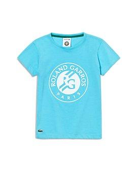 Lacoste - Girls' Sport Roland Garros Logo Print Tee - Little Kid, Big Kid
