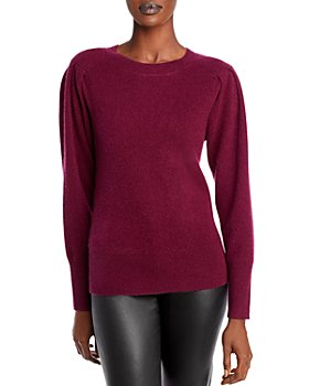 C by Bloomingdale's - Cashmere Puff Sleeve Crew Neck Sweater - 100% Exclusive