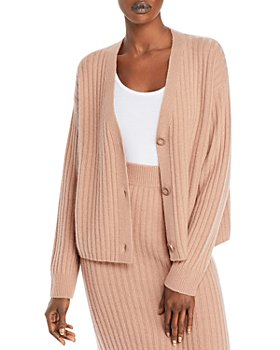 C by Bloomingdale's - Ribbed Cashmere Cardigan - 100% Exclusive