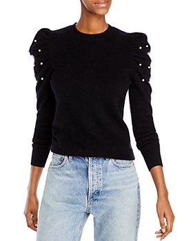 AQUA - Embellished Puff Sleeve Cashmere Sweater - 100% Exclusive