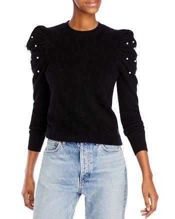 AQUA - Embellished Puff Sleeve Cashmere Sweater - 100% Exclusive