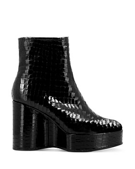 Clergerie - Women's Bless Platform Wedge Booties