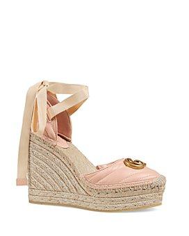 Gucci - Women's Ankle Tie Platform Espadrilles