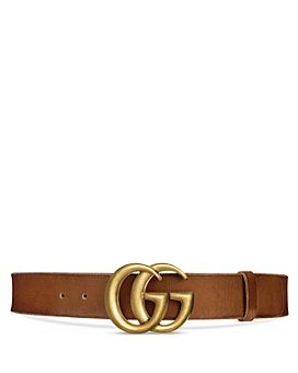 Gucci - Women's Faded Leather Belt with Double G Buckle