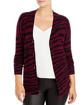 C by Bloomingdale's - Zebra Print Cashmere Cardigan - 100% Exclusive