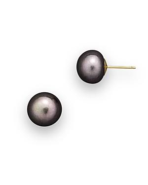 Cultured Freshwater Grey Pearl Stud Earrings, 10mm
