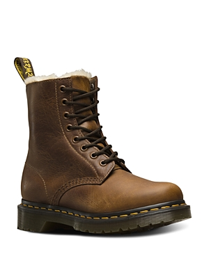 Dr. Martens Women\\\'s 1460 Serena Faux Fur Lined Butterscotch Boots