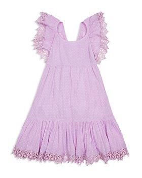 Peek Kids - Girls' Cotton Sabrina Eyelet Trim Dress - Little Kid, Big Kid