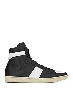 Saint Laurent - Men's Court Classic SL/10H High Top Leather Sneakers