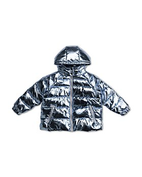 Stella McCartney - Girls' Oversized Metallic Foil Puffer Jacket - Little Kid, Big Kid