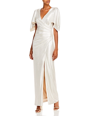 Eliza J V-Neck Evening Gown-Women
