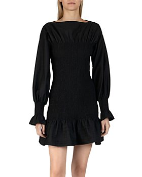Derek Lam 10 Crosby - Dua Smocked Cotton Mini Dress