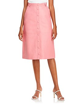 REMAIN - Bellis Snap Front Leather Skirt