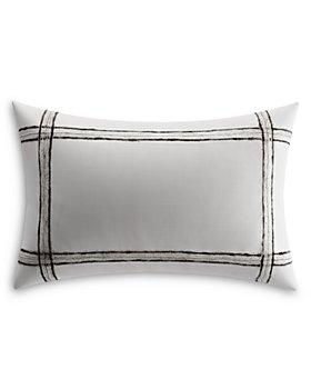 Vera Wang - Charcoal Vines Mohair Plaid Breakfast Pillow