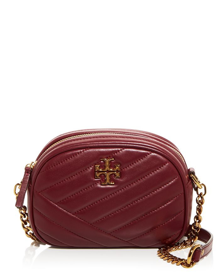 Tory Burch KIRA CHEVRON SMALL QUILTED LEATHER CAMERA CROSSBODY