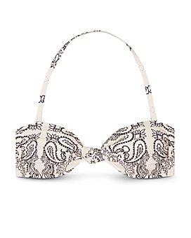 Tory Burch - Bandana Print Convertible Bandeau Bikini Top