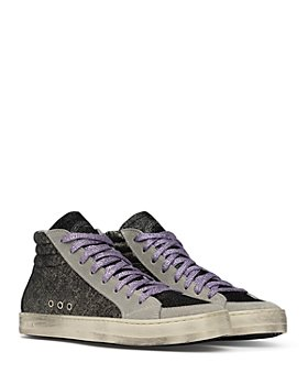 P448 - Women's Skate High Top Glitter Platform Sneakers