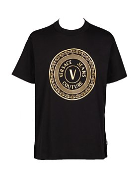 Versace Jeans Couture - V Button Gold Foil Logo Tee