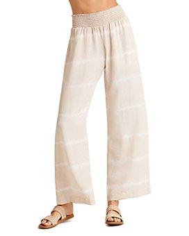 Bella Dahl - Smocked Waist Printed Wide Leg Pants