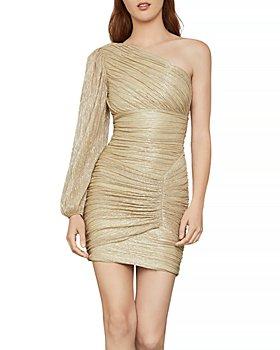 BCBGMAXAZRIA - Ruched One Shoulder Dress