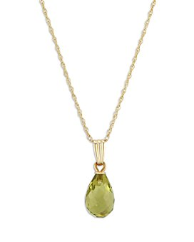 "Bloomingdale's - Peridot Briolette Pendant Necklace in 14K Yellow Gold, 18"" - 100% Exclusive"