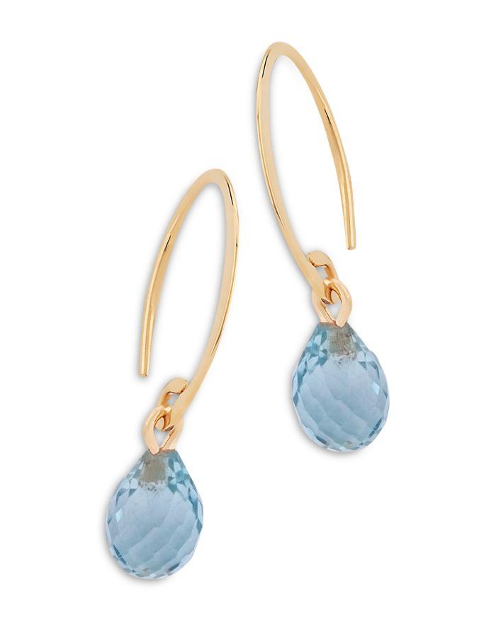 Bloomingdale's Blue Topaz Briolette Mini Sweep Drop Earrings in 14K Yellow Gold - 100% Exclusive  | Bloomingdale's