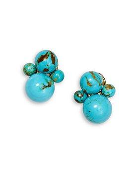 IPPOLITA - 18K Yellow Gold Nova Turquoise Bead Cluster Stud Earrings