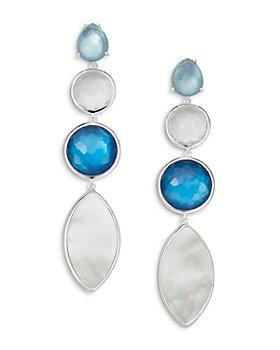 IPPOLITA - Sterling Silver Wonderland Multi-Stone Linear Drop Earrings