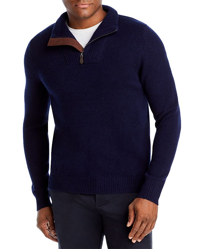 The Men's Store at Bloomingdale's - Wool Blend Half Zip Mock Neck Sweater - 100% Exclusive