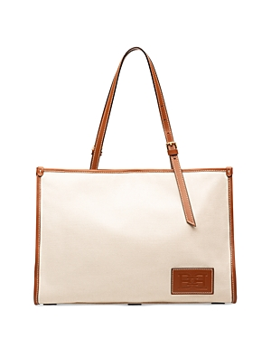 Bally Calie Leather Trim Canvas Tote-Handbags