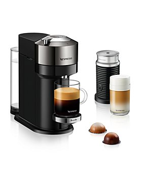 Nespresso - Vertuo Next Deluxe by Breville with Aeroccino Milk Frother, Dark Chrome