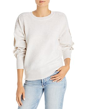 AQUA - Scallop Sleeve Cashmere Sweater - 100% Exclusive