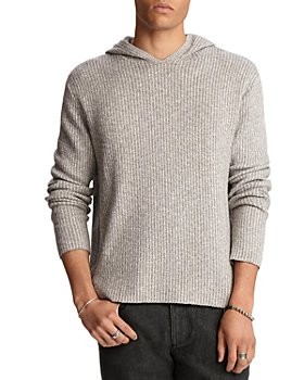 John Varvatos Collection - Cotton Blend Vertical Stripe Easy Fit Hoodie