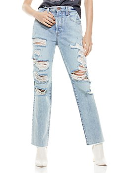 Alice and Olivia - Amazing Ripped Boyfriend Jeans in Wildfire