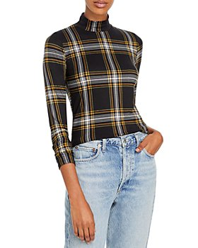 FORE - Knit Plaid Turtleneck