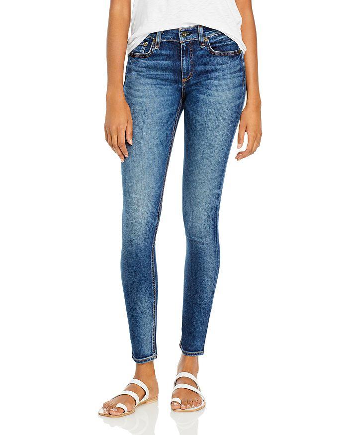 rag & bone - Cate Mid Rise Skinny Jeans in Valley Line