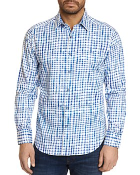 Robert Graham - Andres Cotton Stretch Watercolor Grid Classic Fit Button Up Shirt